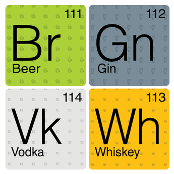 Alcohol Periodic Table Coasters