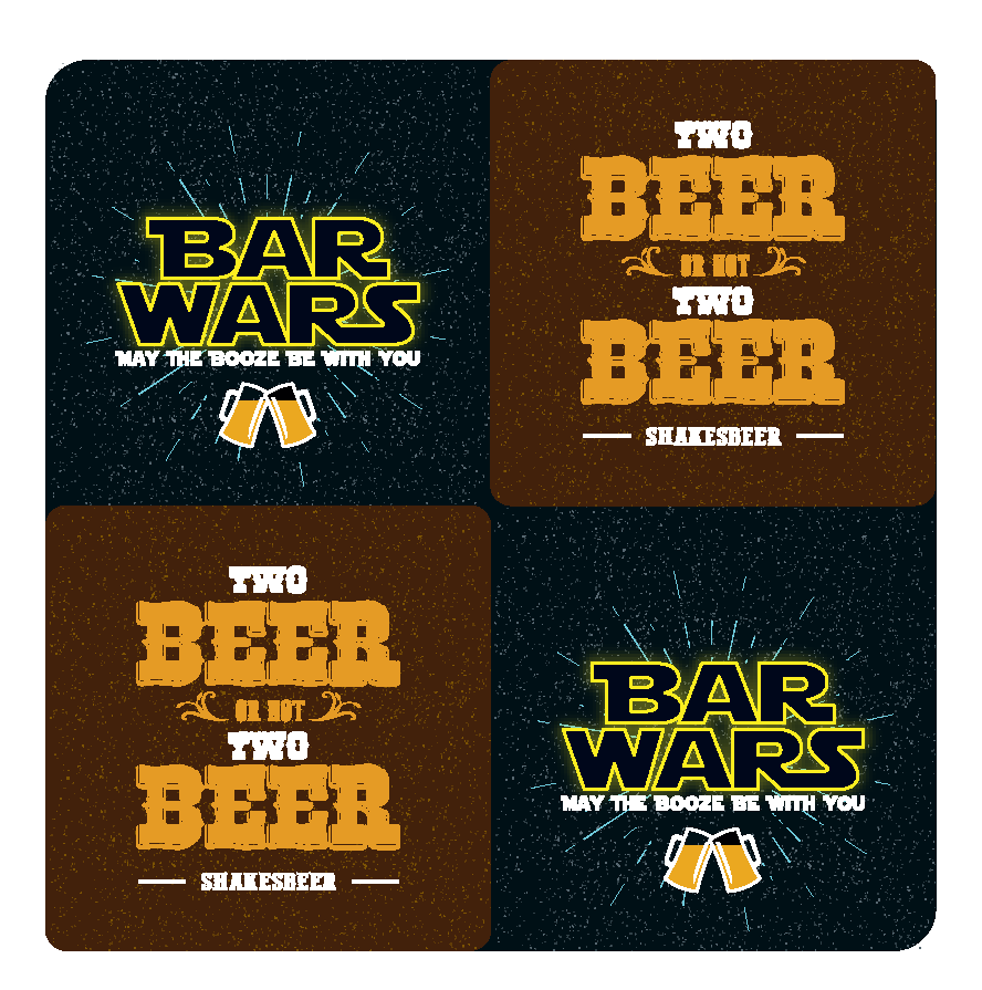 Bar wars and Two beer Coasters
