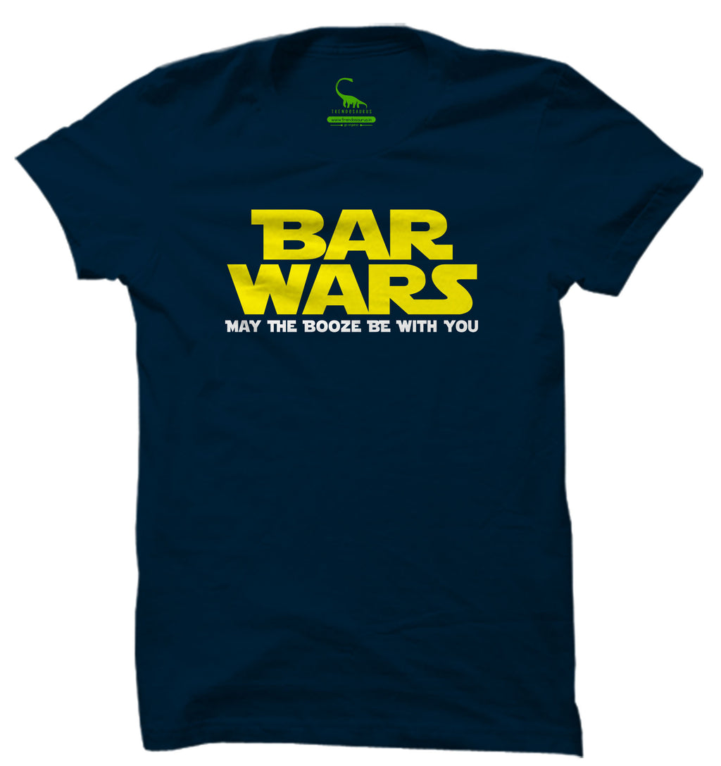 Men's Navy Blue Organic T-Shirt-Bar Wars