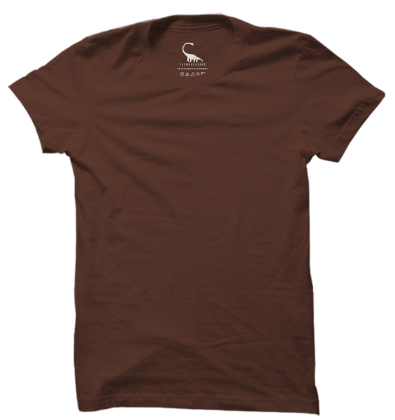 Unisex Plain Chestnut Brown Organic Slub Cotton T-Shirt