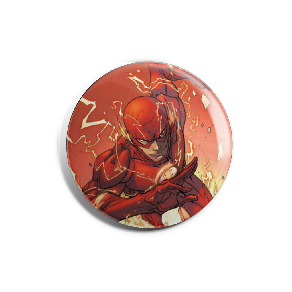 Running Flash Badge Magnet