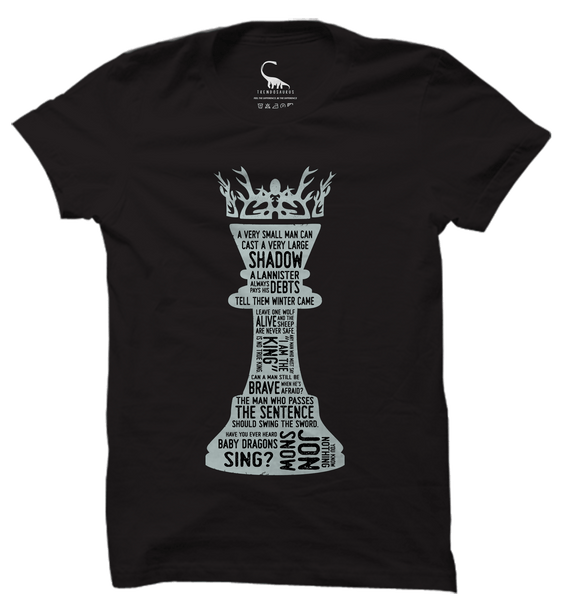 Unisex Black Organic T-Shirt-Game of Thrones