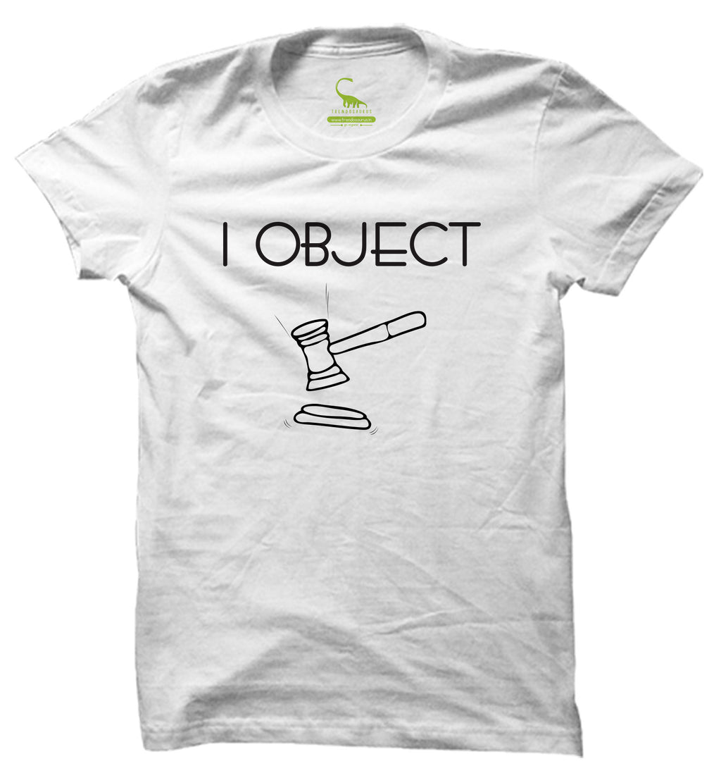 Men's White Organic T-Shirt-I Object