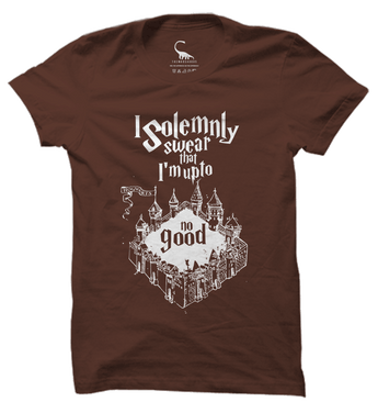 Unisex Chestnut Brown Organic T-Shirt-I Solemnly Swear