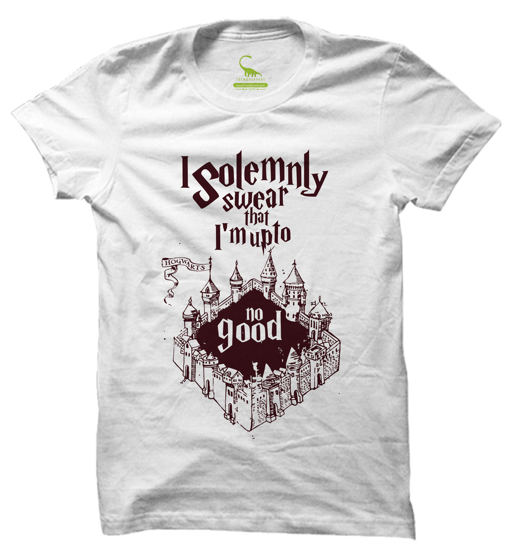 Men's White Organic T-Shirt-I Solemnly Swear