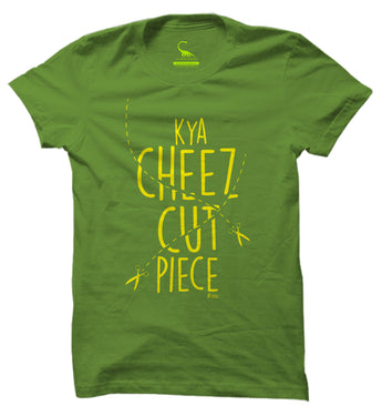 Men's Kelly Green Organic T-Shirt-Kya Cheez Cut Piece