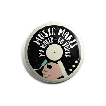 Music Makes My World Badge Magnet