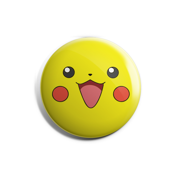 Pikachu Face Badge Magnet
