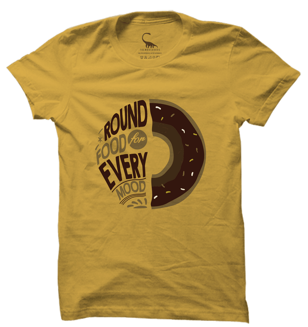Unisex Spicy Mustard Organic T-Shirt-Round Food for Every Mood