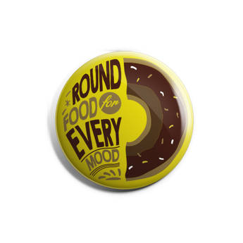 Round Food Badge Magnet