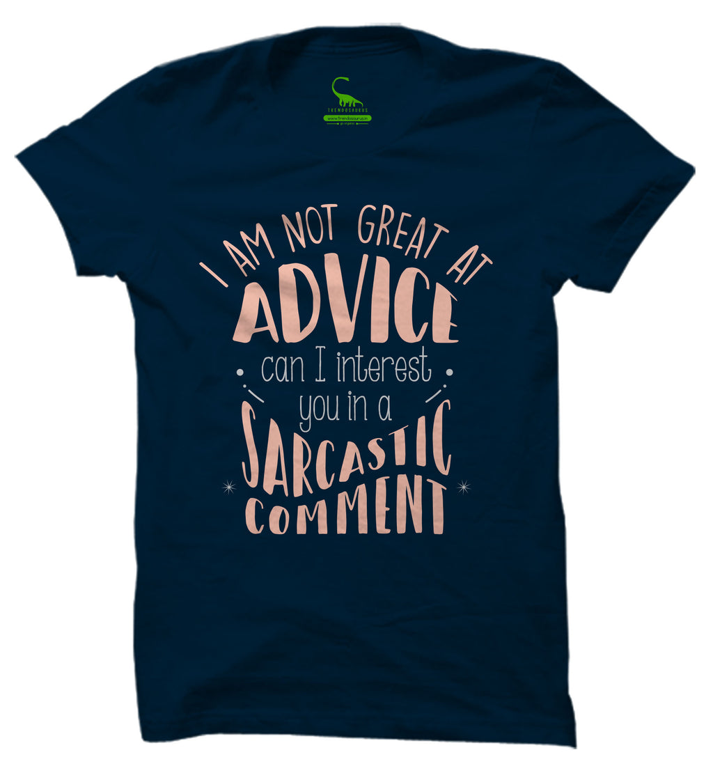 Men's Navy Blue Organic T-Shirt-Sarcastic Comment