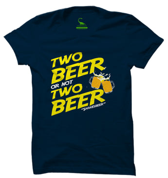 Men's Navy Blue Organic T-Shirt-Two Beer or not Two Beer