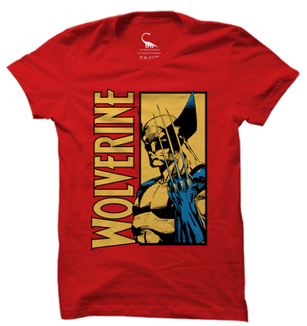 Unisex Fiery Red Organic T-Shirt-Wolverine