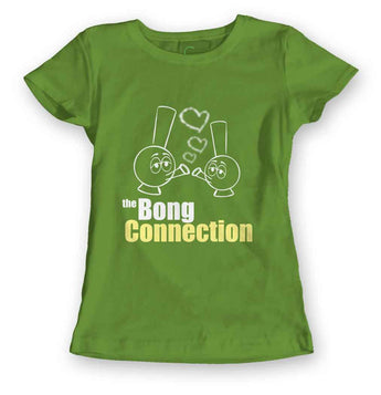 Women's Kelly Green Organic T-Shirt-The Bong Connection