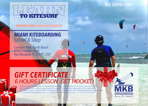 Kitesurfing Gift Certificate 6 Hours Lesson Get Hooked