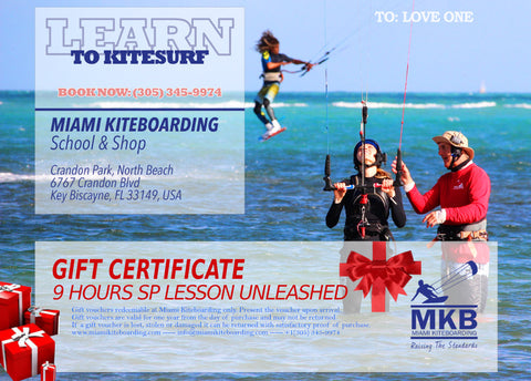 Kitesurfing Gift Certificate 9 Hours Lesson Get Addicted
