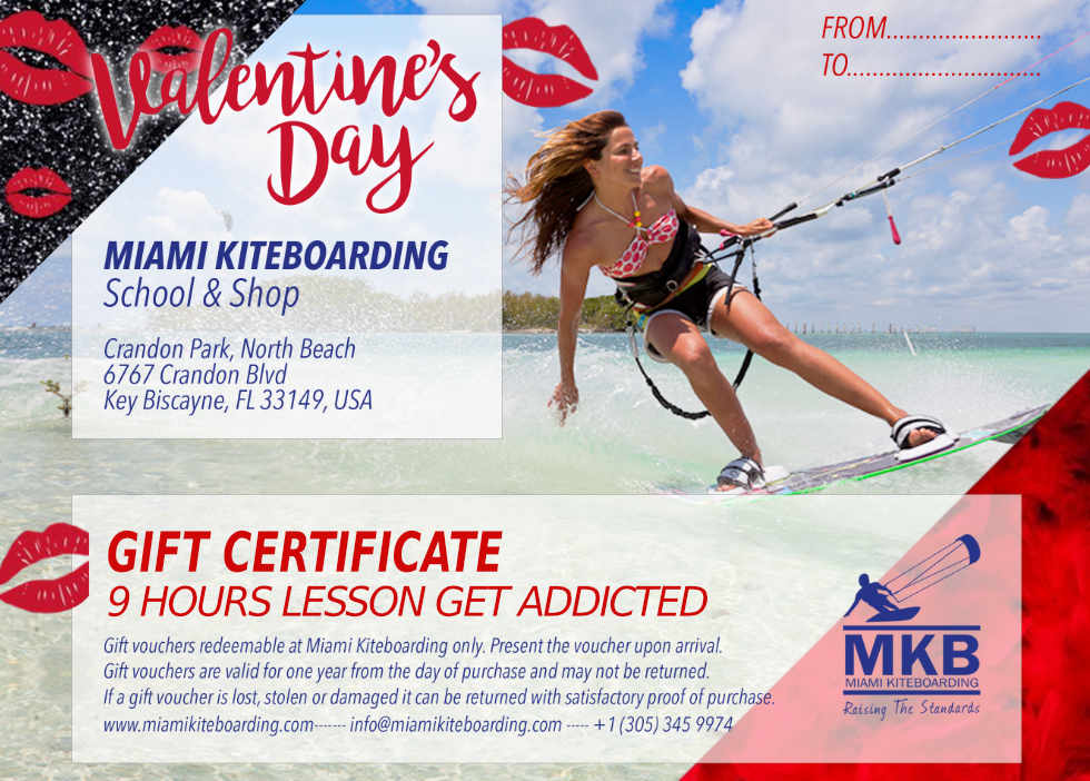FREE RASHGUARD OR BEACH TOWEL WITH KITE SURFING 9 HRS LESSON VALENTINE'S GIFT CERTIFICATE