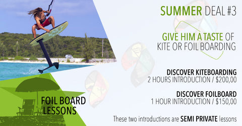 SUMMER DEAL #3 : INTRODUCTION to KITESURFING or FOILBOARDING