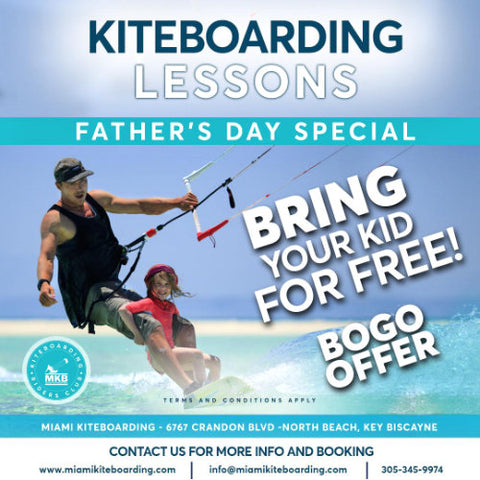 Kiteboarding Lessons Special Father's Day - Bring You Kid For Free