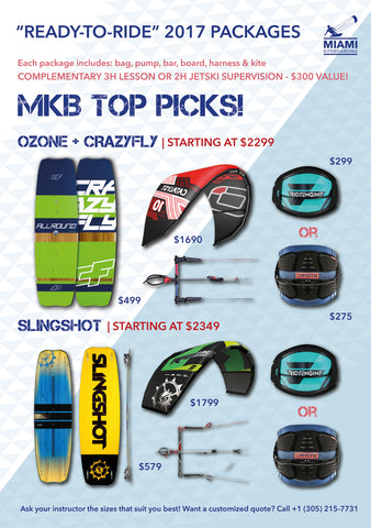 "MKB ""TOP PICKS"" EQUIPMENT PACKAGES + LESSON"