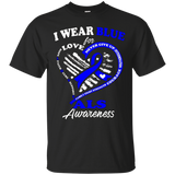 Als Awareness Shirt - I Wear Blue For My Hero