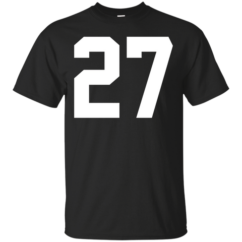 #27 Team Sports Jersey Number Front _amp_ Back Player Fan Tee