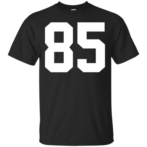 #85 Team Sports Jersey Number Front _amp_ Back Player Fan Tee