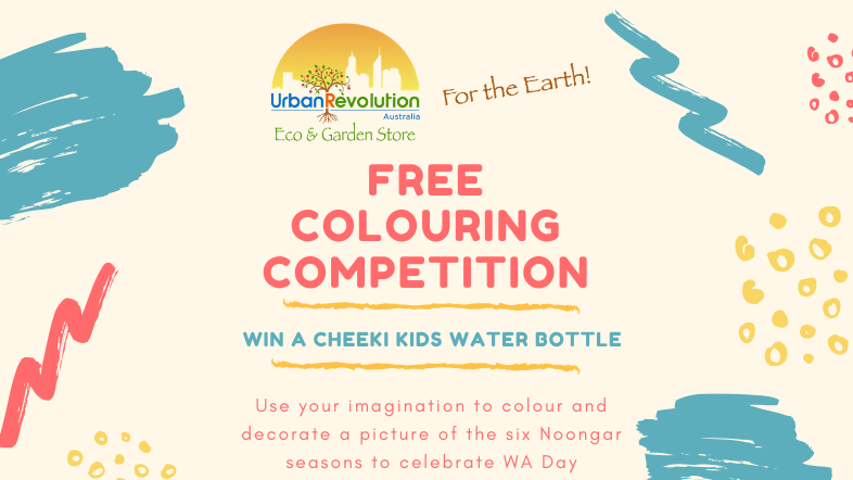Win A Kids Bottle - Free Colouring Competition for WA Day!