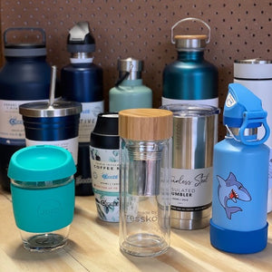 Stainless Steel, Glass and Bamboo Pulp Drinkware