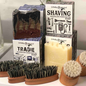 Hair, beard and nail brushes and personal care products