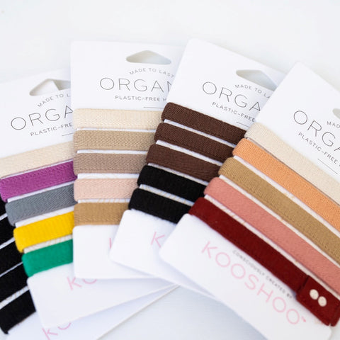 plastic free compostable biodegradable hair ties