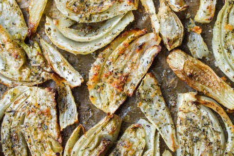 Roasted Fennel on a baking tray