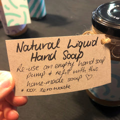 Liquid hand soap from soap nuts ready to gift