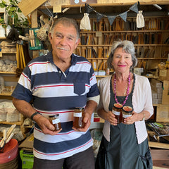 Couple with our local honey in the store