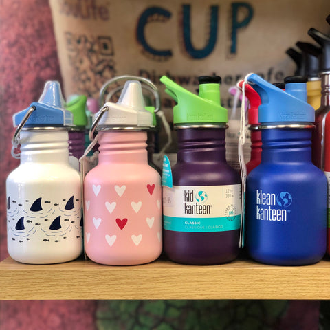 Kids water bottles in different colours and designs