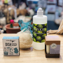 Natural kitchen soaps and detergents