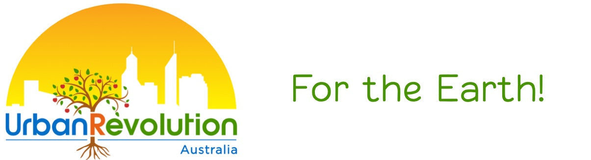 Urban Revolution Australia Logo with For the Earth! Text