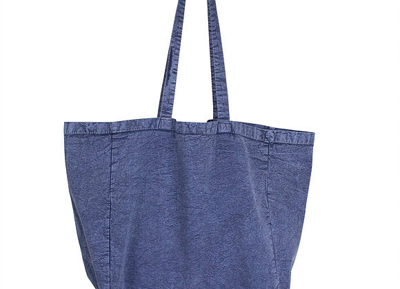 Stonewash 100% Canvas Tote - Long Handled Denim