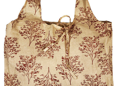 Hampi Shopping Bags - 100% Cotton Screen-Printed Machine Washable Tree Turmeric
