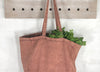Stonewash 100% Canvas Tote - Long Handled Chai