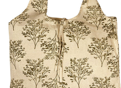Hampi Shopping Bags - 100% Cotton Screen-Printed Machine Washable Tree Olive