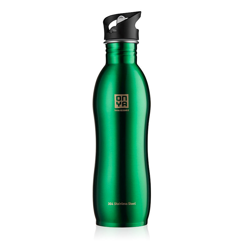 H2Onya - Drink Bottle 1000ml Stainless Steel Green