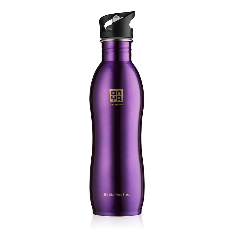 H2Onya - Drink Bottle 1000ml Stainless Steel Purple