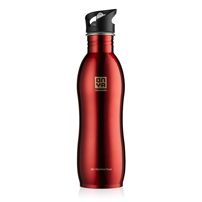 H2Onya - Drink Bottle 1000ml Stainless Steel Red