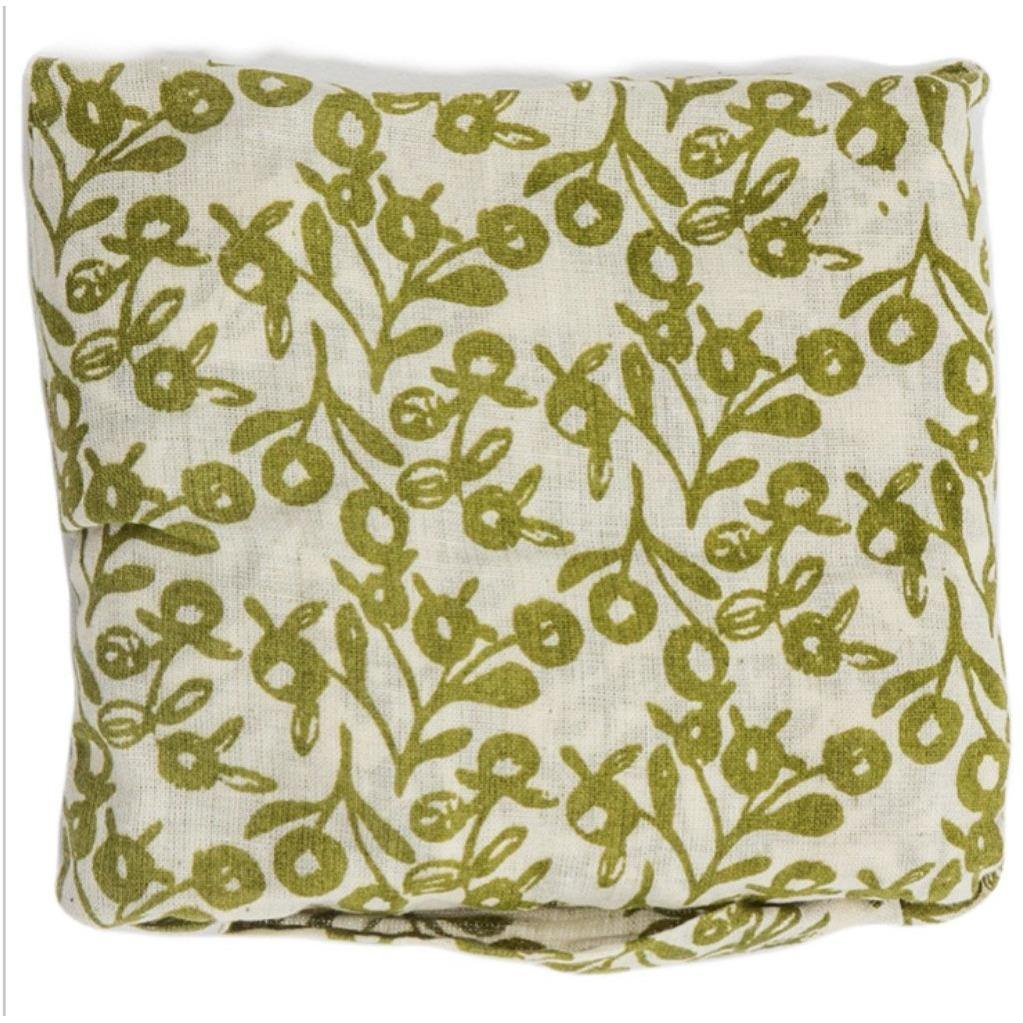 100% Cotton Flora Bag - Lilly Pilly Olive