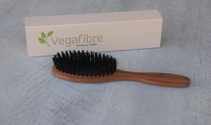 Vegafibre bristled vegan hair brush with packaging