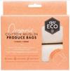 Reusable Produce Bags - Organic Cotton Muslin - 4 Pack