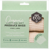 Reusable Large Produce Bags - Organic Cotton Net - 4 Pack
