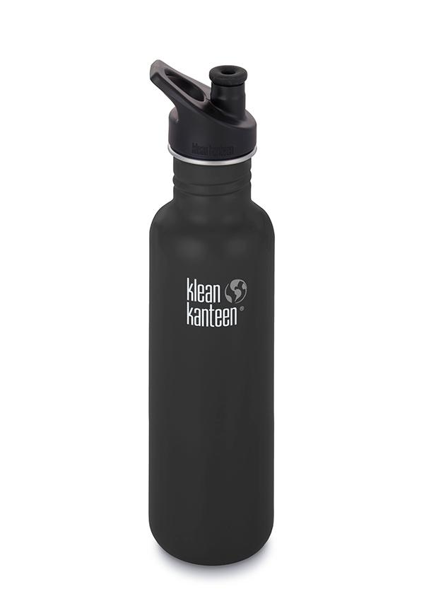 Klean Kanteen Classic 800ml (27Oz) - Sports Cap Drink Bottles Shale Black