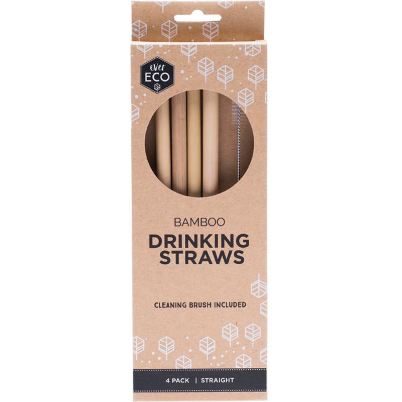 Bamboo Drinking Straws - 4 Pack
